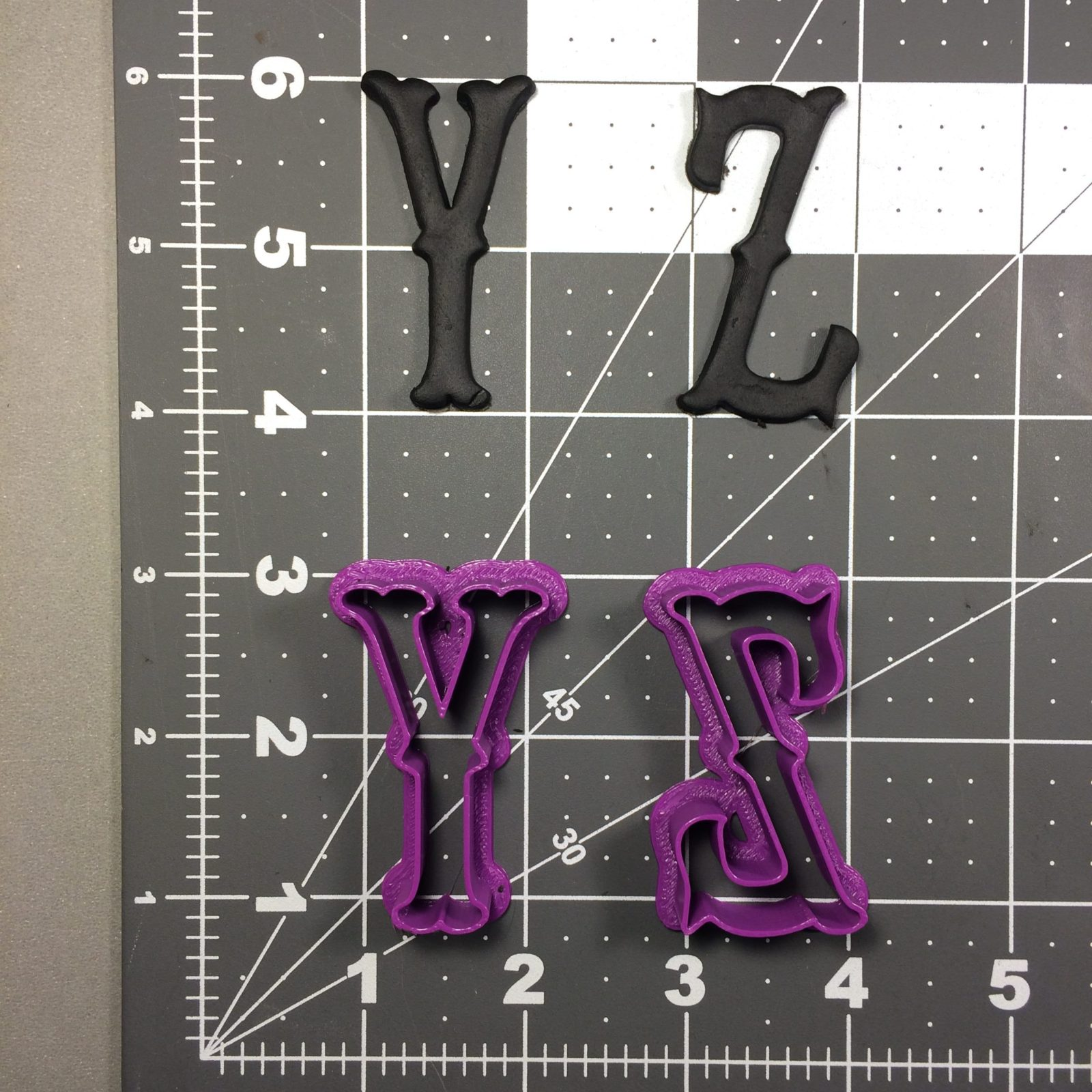 Cursive Font Uppercase Cookie Cutter Full Set