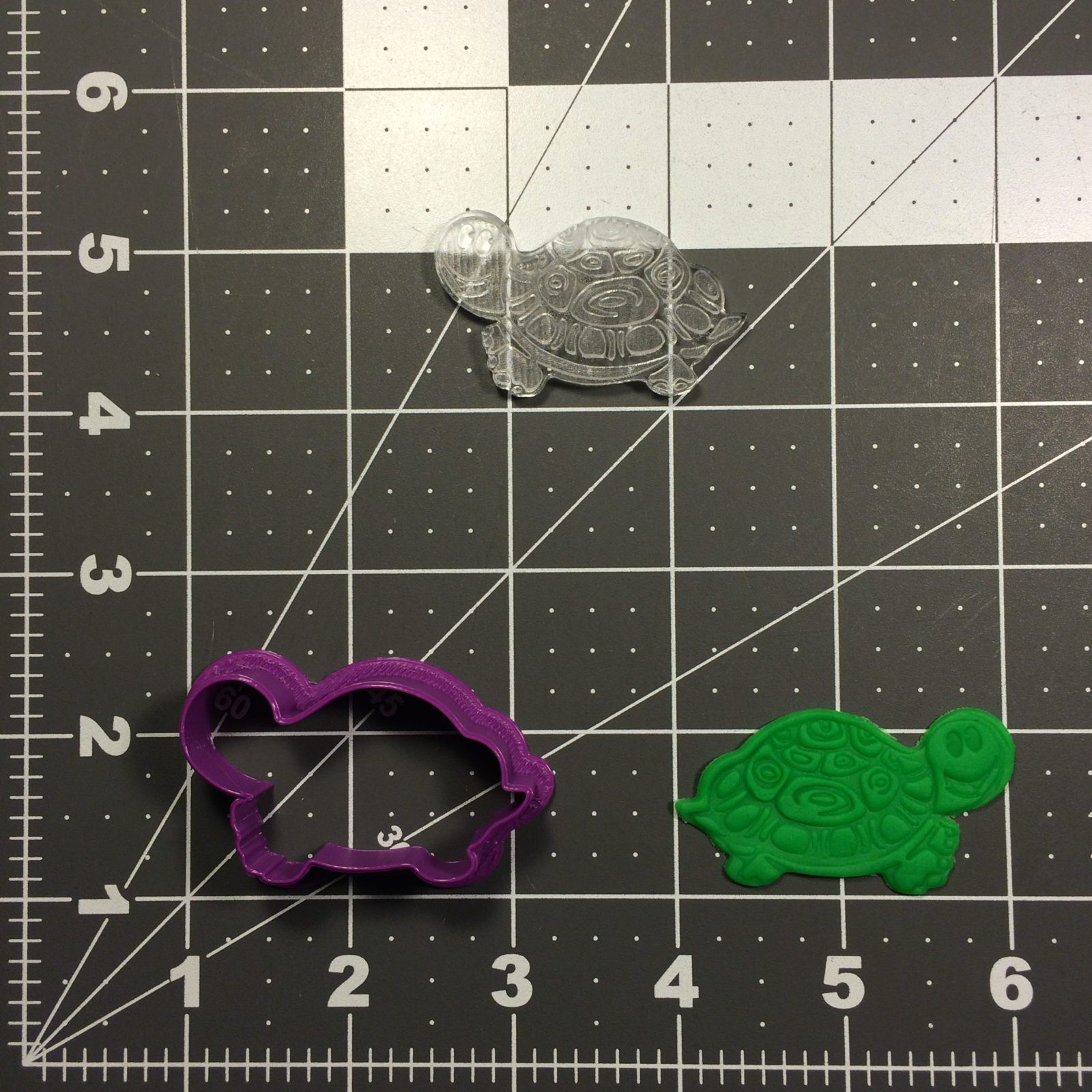 Turtle 100 Cookie Cutter and Stamp (embossed 1)