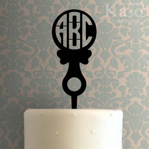 Custom Initials Baby Rattle Cake Topper 100