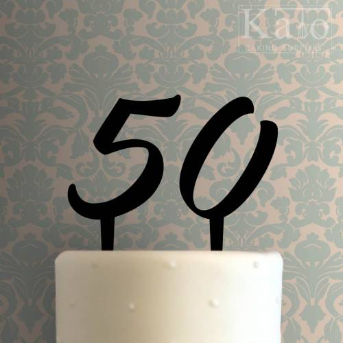 Fifty Cake Topper 100