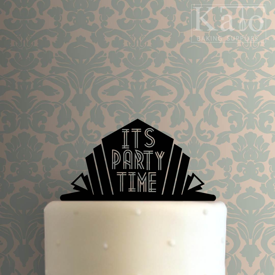 Its Party Time 100 Cake Topper