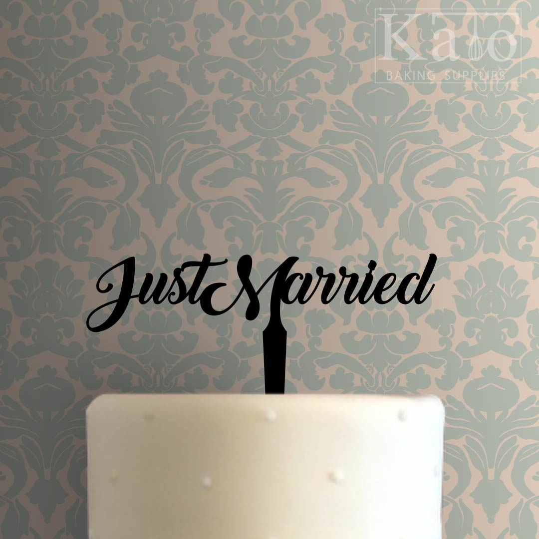Just Married 101 Cake Topper
