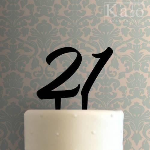 Twenty One Cake Topper 100