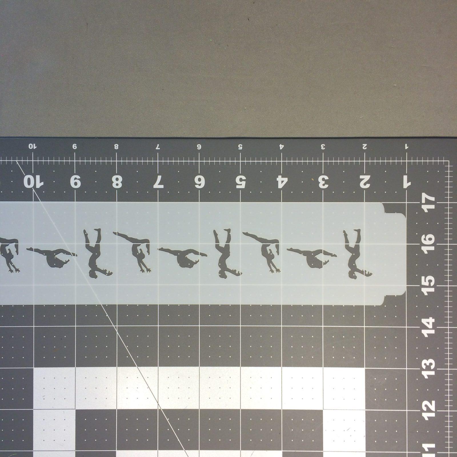 Gymnastics 100 Stencil
