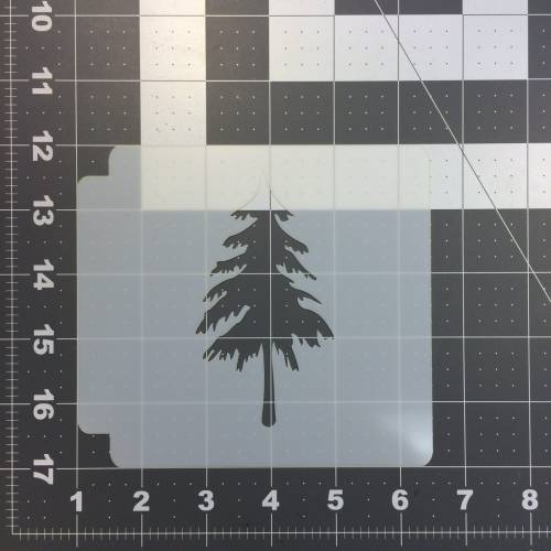 Pine Tree Stencil 100