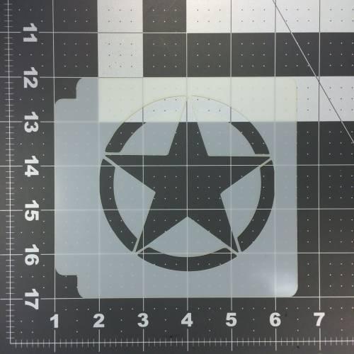 Army Star Stencil 100