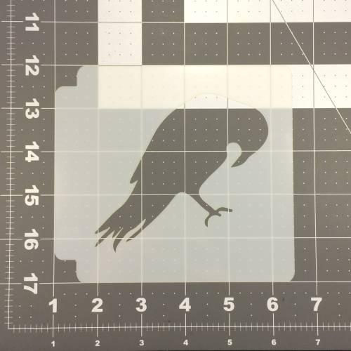 Crow Stencil 100