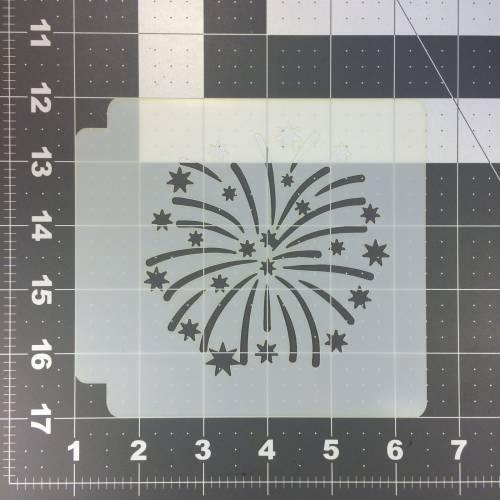 Firework Stencil 100