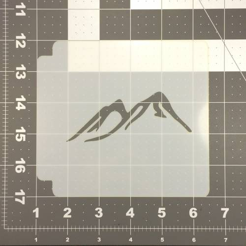 Mountain Stencil 100