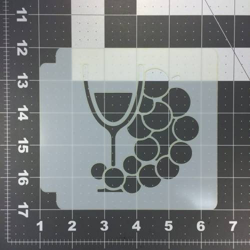 Wine and Grape Stencil 100