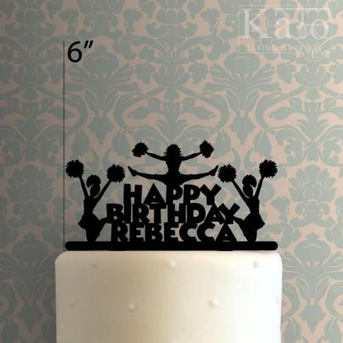Custom Cheerleader Happy Birthday Cake Topper 100