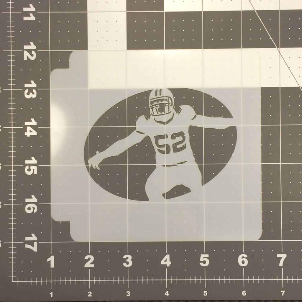 football cookie cutter template - football 107 stencil