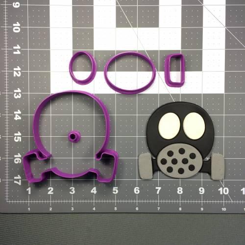 Gas Mask 100 Cookie Cutter Set