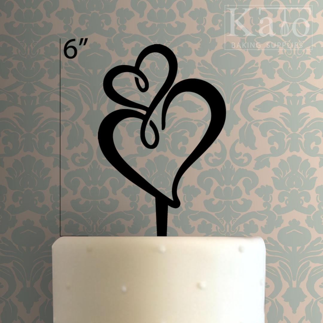 heart cake topper 100