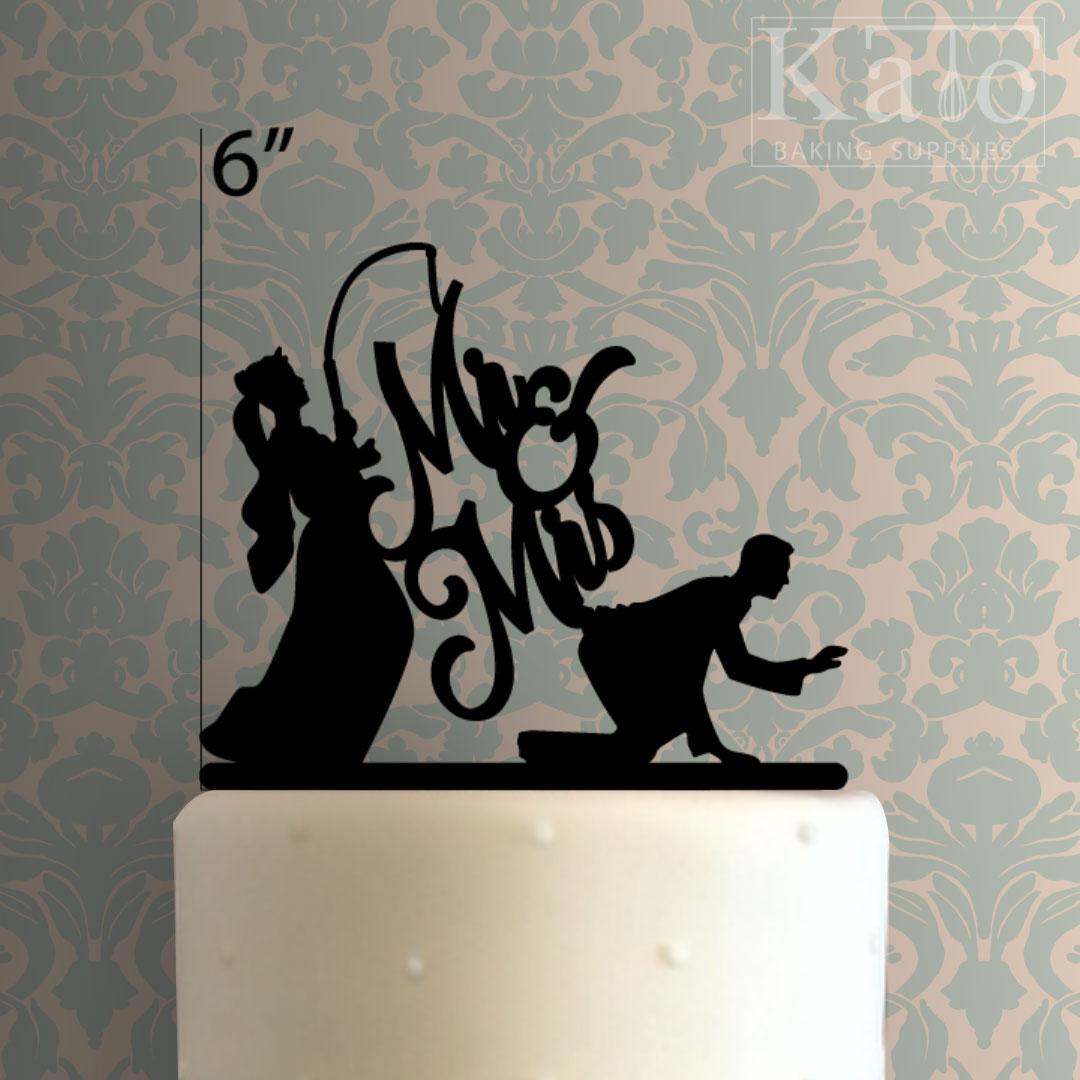 Mr Mrs Cake Topper Black