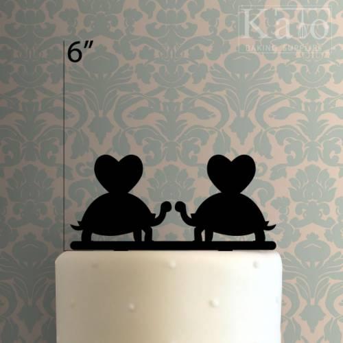 Turtle Couple Cake Topper 100