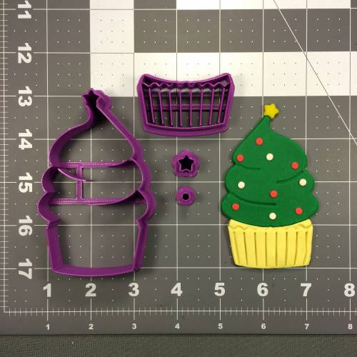 Christmas Cupcake 266-045 Cookie Cutter Set