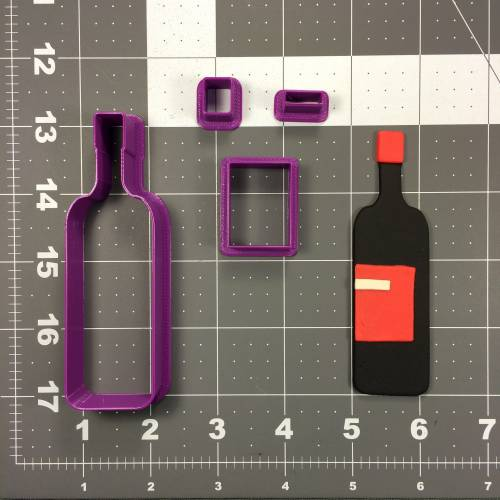 Wine Bottle 102 Cookie Cutter Set