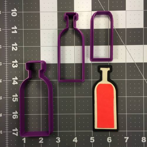 Wine Bottle 103 Cookie Cutter Set