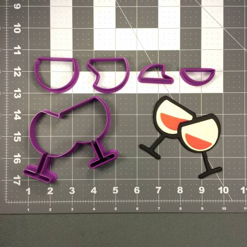 Wine Glasses 101 Cookie Cutter Set