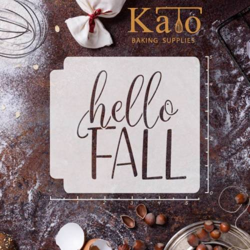 Hello Fall 783-A269 Stencil