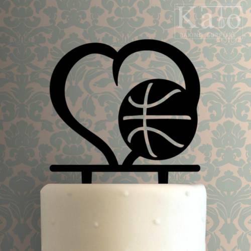 Basketball Heart 225-500 Cake Topper