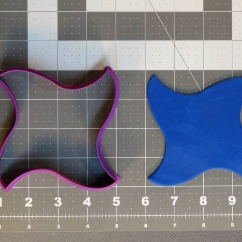 Curved Four Point Ninja Star 266-A621 Cookie Cutter 4 inch