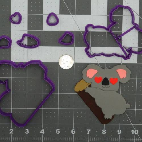Heart Eye Koala 266-C984 Cookie Cutter Set 4 inch