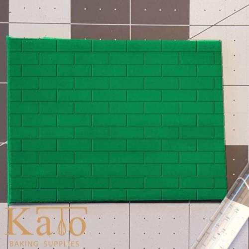 Brick Pattern Embossed 765-498 Rolling Pin .5in